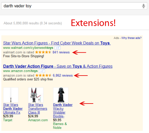 Google Ad Extension