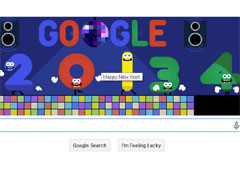 Google Doodle New Year 2013
